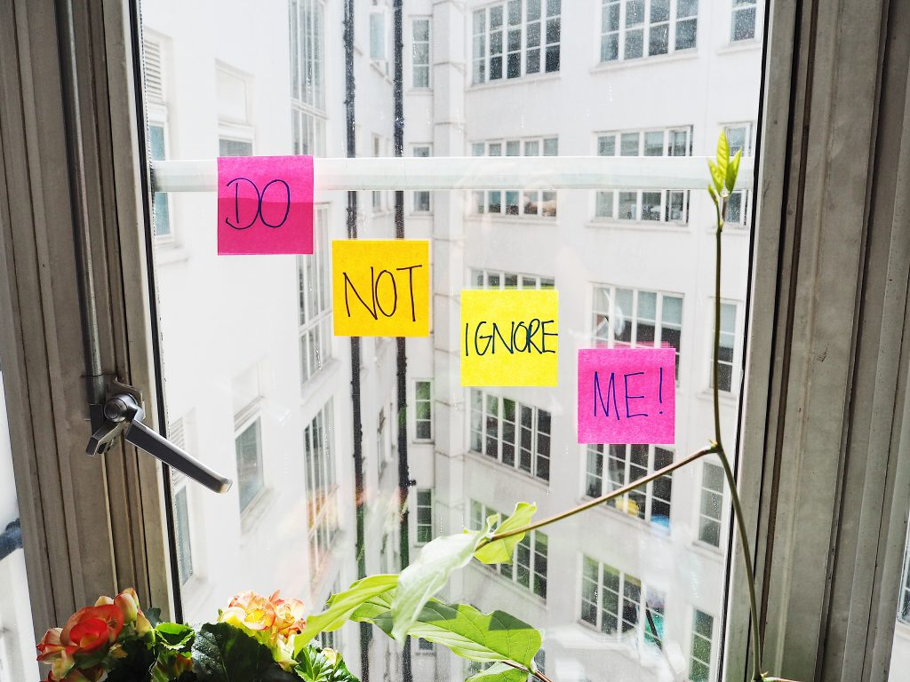 Do not ignore the sticky notes
