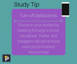top study tip turn off distraction